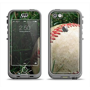 The Grunge Worn Baseball Apple iPhone 5c LifeProof Nuud Case Skin Set