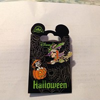 Disney Pin Minnie Witch with Figaro Cat in Pumpkin Halloween Pin