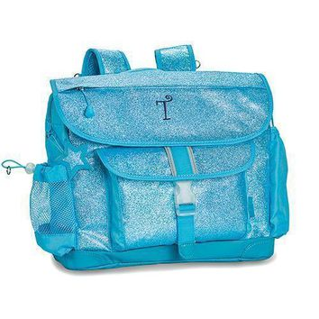 Personalized Kid's Glitter Backpack - Turquoise (Pack of 1)