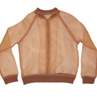 Cannes Sheer Zipup Jacket - Blush