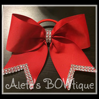Basic red cheer bow with Bling!