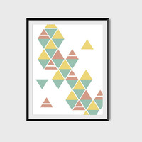Geometric Poster, Minimalist Poster, Abstract Poster, Digital Printable File, Minimalist Print