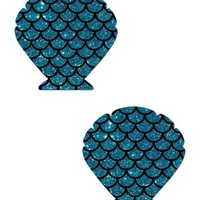 Mermaid Scale Pattern Shell Pasties
