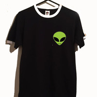 alien ringer tshirt 3 colours cute space tumblr