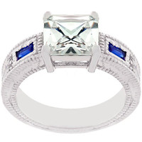 Prima Donna Sapphire Blue Cubic Zirconia Ring, size : 07