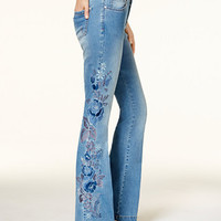 INC International Concepts Curvy-Fit Embroidered Flare Jeans, Created for Macy's | macys.com