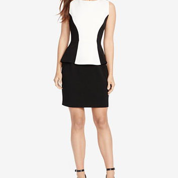 American Living Colorblocked Peplum Dress | macys.com