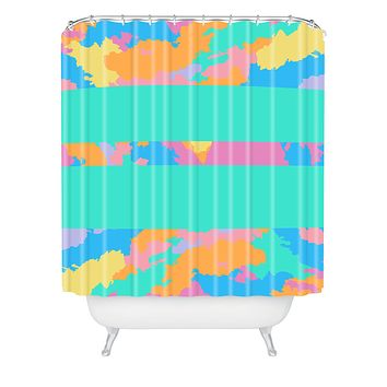 Rosie Brown The Color Green Shower Curtain