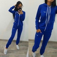 DCCK8 Nike :Fashion Long Sleeve Sweater Set Two-Piece Sportswear