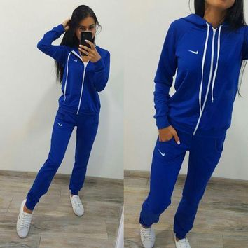 DCCK8H2 Nike :Fashion Long Sleeve Sweater Set Two-Piece Sportswear