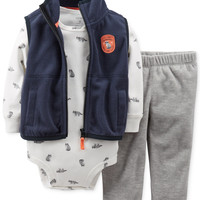 Carter's Baby Boys' 3-Piece Microfleece Vest Set