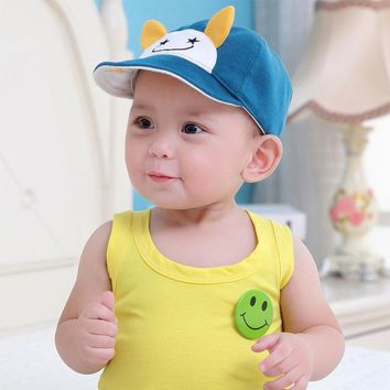Sports Hat Cap trendy  BalleenShiny Baby Hello Bear Ears Hat Cute Infant Baseball Sun Cap Kids Sports Casual Hat Baby Photograph Pro Outfit Accessories KO_16_1