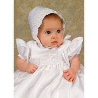 Olivia 18 Month satin christening gown. $90.50