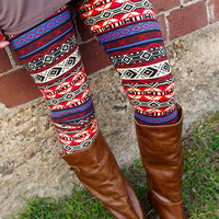 Crazy Fun Aztec Leggings | The Rage