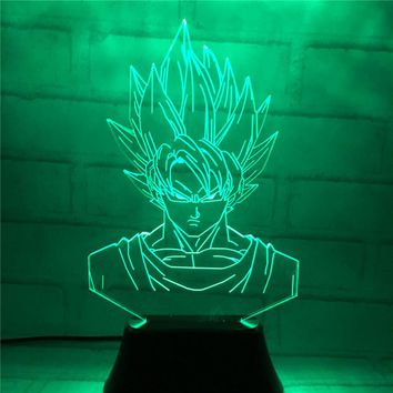 7 Color Dragon Ball 3D Vision Stereo LED Night Light Table Lamp