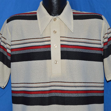 70s Anderson Little Striped Polo Shirt Medium