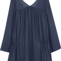 Elizabeth and James - Theron ruched silk-chiffon mini dress