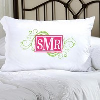 Felicity Cheerful Monogram Pillow Case - CM 7