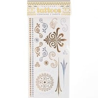 With Love From CA Scroll Flash Tattoo Set - Womens Scarves - Gold - NOSZ