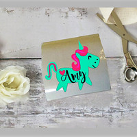 Unicorn decal, Unicorn decor, Theme party Sticker