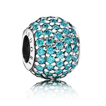 Pandora Teal CZ Pavé Lights Charm