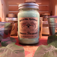 Mint-Mojito Natural Hand Poured Soy Candles