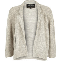 River Island Womens Grey short boxy jersey jacket