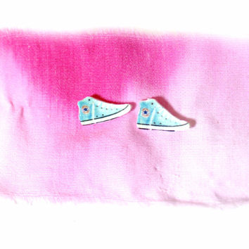 Baby Blue Converse Earrings