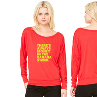 Always Money in the Banana Stand women's long sleeve tee