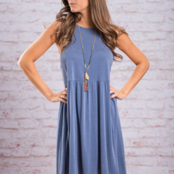 Kiss On The Cheek Dress, Blue