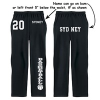 Fair Game . Fair Game Custom Basketball Sweatpants