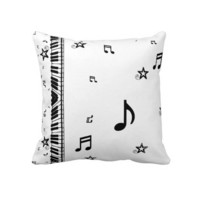 Piano and Music Notes Throw Pillows from Zazzle.com