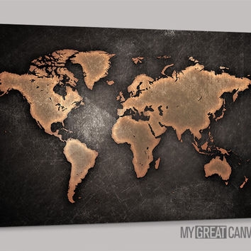 Best metal world map art products on wanelo large wall art canvas metalic world map print wall art map can gumiabroncs Image collections