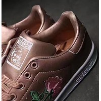 Adidas Stan Smith Rose Embroidery Sneaker - Rose Gold