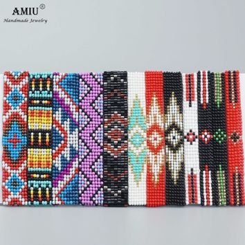 AMIU Handmade Package For Sale Bohemian Weave Beads Friendship Bracelet Woven Rope String Packing Sets 12 Pieces For Women Men