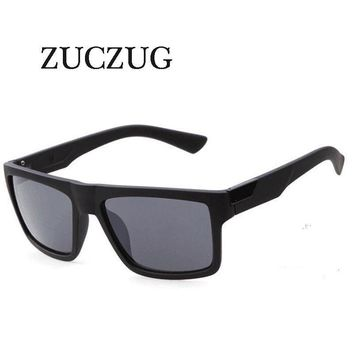 ZUCZUG Retro Square Sunglasses Men's Brand Designer Reflective Coating Sun Glasses Goggle Square Spied SunGlasses Male UV400