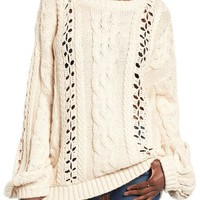 For Love & Lemons Wythe Cable Knit Sweater | Nordstrom