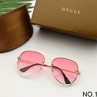 GUCCI Bee face round frame fashion sunshade female mirror F-A-SDYJ NO.1