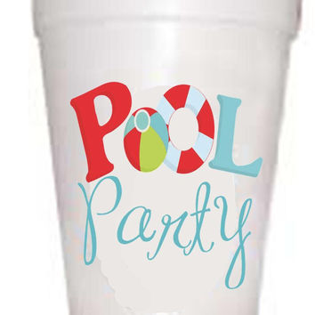 Pool Party Styrofoam Cups
