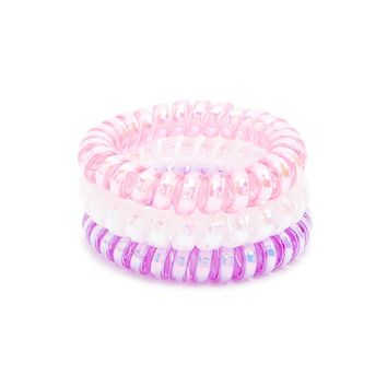 Iridescent Spiral Hair Ties