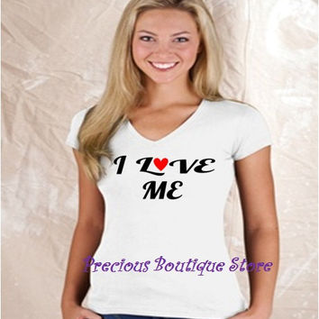 I Love Me Across Vinyl Shirt