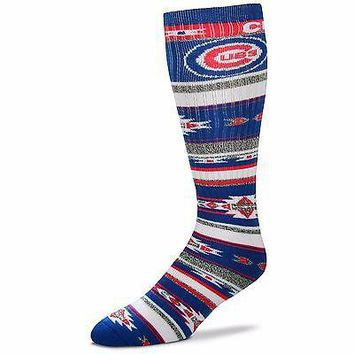 CHICAGO CUBS TAILGATER CREW SOCKS SIZE ONE SIZE FITS MOST NEW FOR BARE FEET