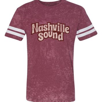 Nashville Sound Burnout Football Tee