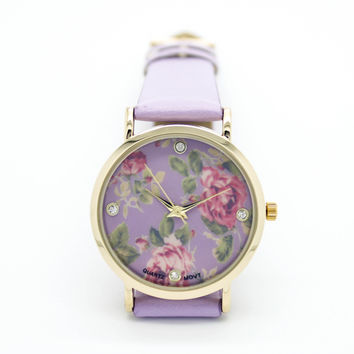 Flower strap watch (4 colors)