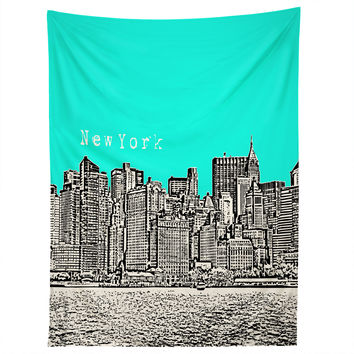 Bird Ave New York Aqua Tapestry