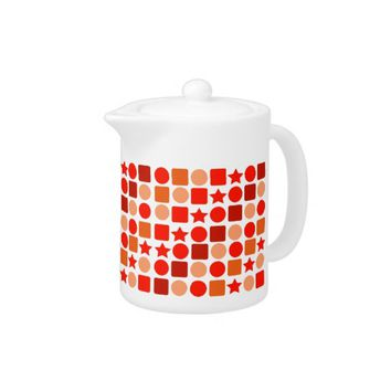 Orange Geometrics on Teapot