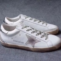 GGDB / Golden Goose Deluxe Brand Uomo / Donna Superstar Silver Sneakers - Best Deal Online