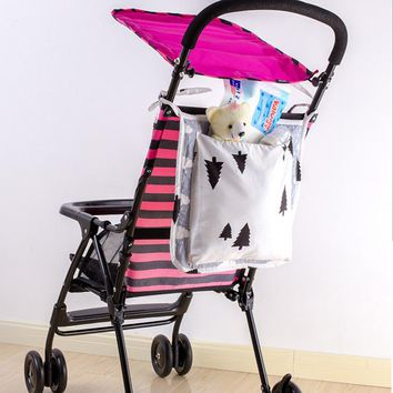Baby Stroller Organizer Carrying Bag Baby Pushchair Umbrella Car pram Accessories Toys Storage  Crib Organizer Toy Diaper Pocket