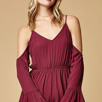 Somedays Lovin Desert Storm Cold Shoulder Romper at PacSun.com