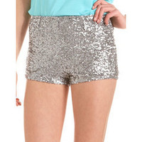 High Waisted Sequin Short: Charlotte Russe